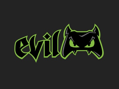 Evil Controllers Logo video game evil identity branding typography logo