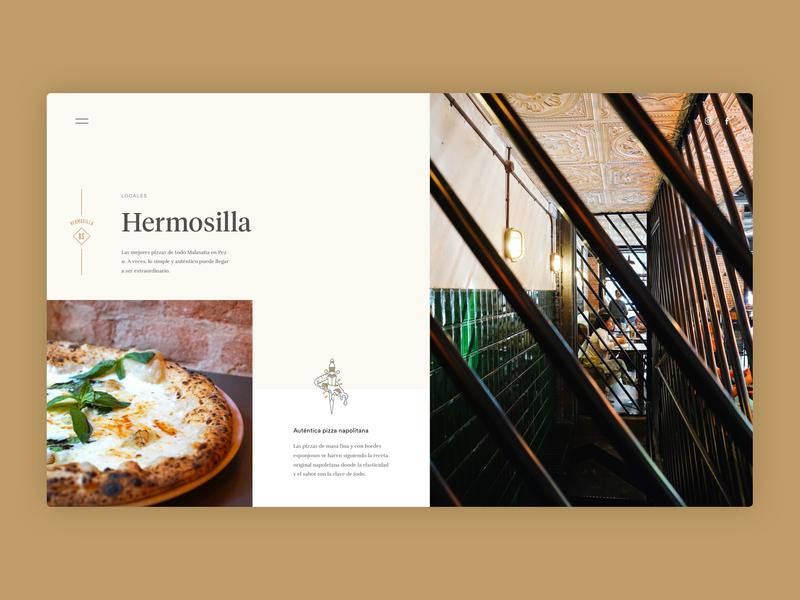 Grosso Napoletano - Local - food web design naples napoli neapolitan grosso madrid pizza restaurant illustration website ux ui typography branding
