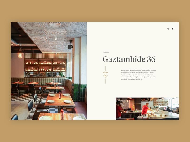 Grosso Napoletano - Local - neapolitan napoli naples madrid food pizza restaurant illustration web design website ux ui typography branding