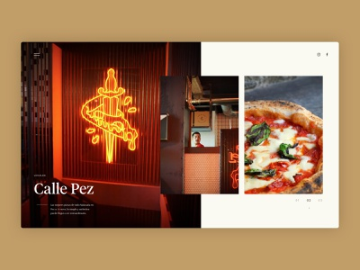 Grosso Napoletano - Local - neapolitan napoli naples madrid neon light neon food pizza restaurant web design design website ux ui typography branding