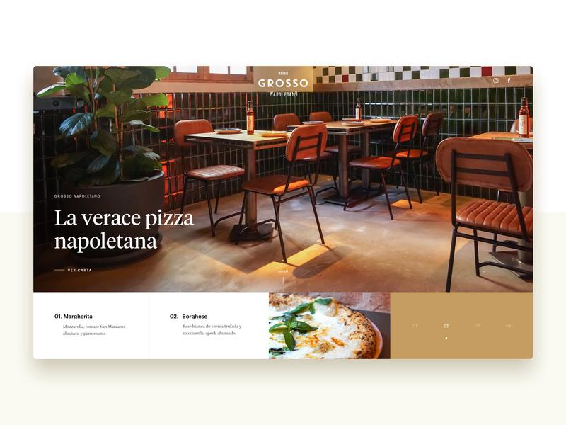 Grosso Napoletano - Home - neapolitan napoli naples madrid pizza food restaurant slider hero home inspiration web design website ux ui typography branding