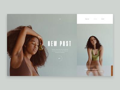 Natural - Blog - post blog design interface market place blog ecommerce fashion web design design website ux ui typography