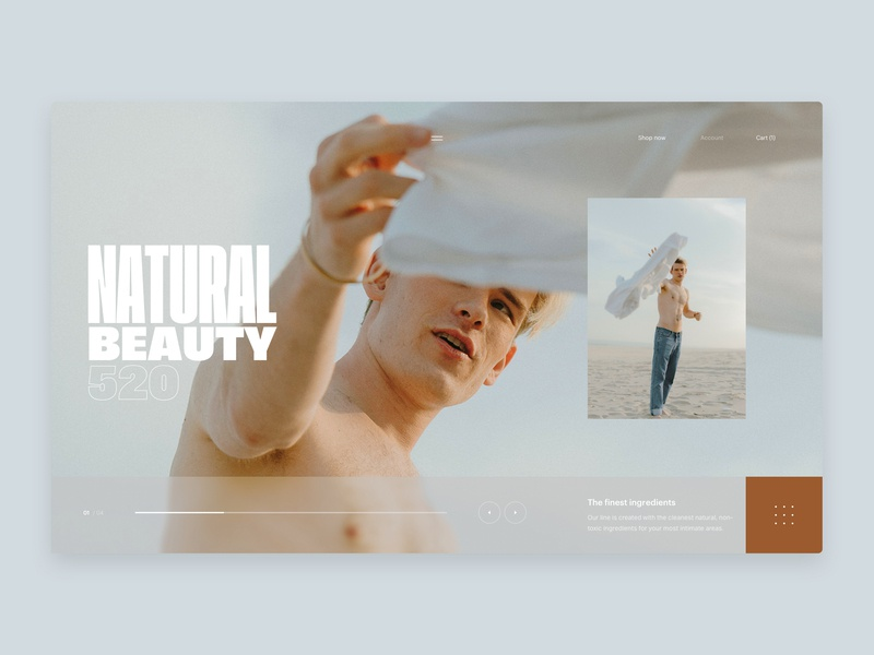 Natural - Home - slider natural market place hero home interface ecommerce fashion web design design website ux ui typography