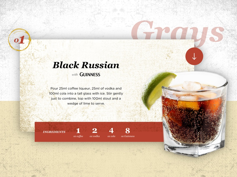 Recipe Card takeaway advertising ux  ui guinness pub vector colorpalette modal website beerfest graphicdesign download recipe card recipe