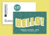 LOCOBA Postcard
