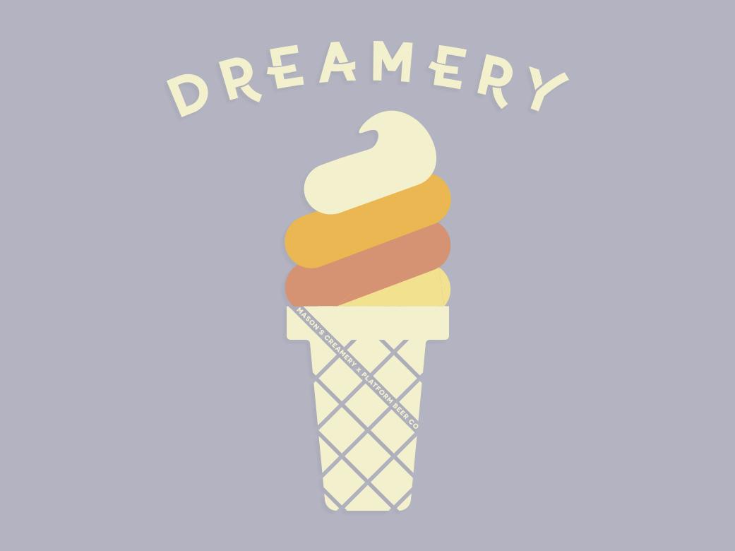 Dreamery brewery logo beer logo badge design illustrator tshirt art shirt design
