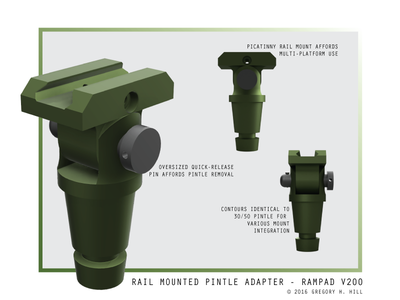 Rail-Mounted Pintle Adapter V200