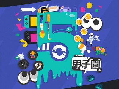 happy 5 years!!!! nintendo illustration splatoon