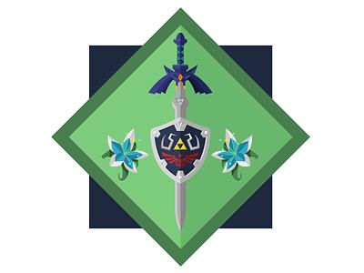 Breath of the Wild / Master Sword + Hylian Shield zelda silent princess hylian shield master sword link legend of zelda breath of the wild