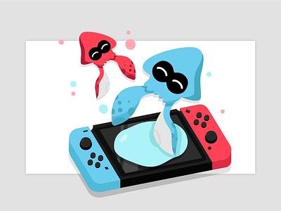 Splat Switch! gaming console splatoon 2 illustration splatoon switch nintendo