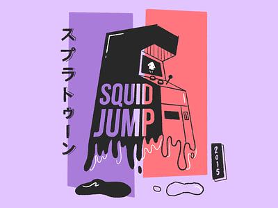 Squid Jump Arcade illustration procreate squid jump arcade nintendo splatoon