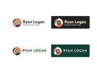 Personal Branding 2020 personal brand personal logo green orange angles geometric designer photographer design minimal branding illustration logo