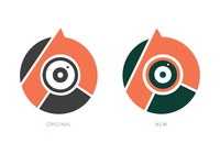 Personal Branding 2020 Dribbble Icon illustration branding minimal identity geometric angles logo designer photographer design personal logo personal branding