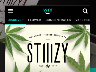 Weedmaps Brands Landing Page