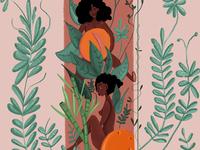 women x fruit
