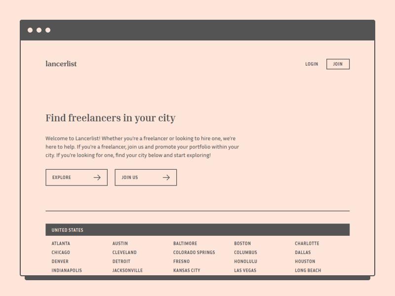 Lancerlist - Find Freelancers in Your City simple minimal website typography platform freelancing freelance web ui design