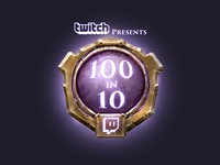 Hearthstone 100 in 10 challenge badge