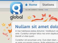 Global Radio Corporate Site - Design Concept
