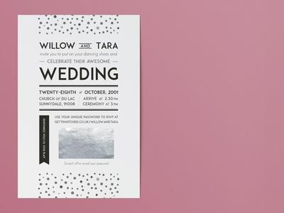 1920s-inspired wedding invitation