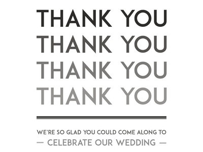 1920s-style thank you card detail