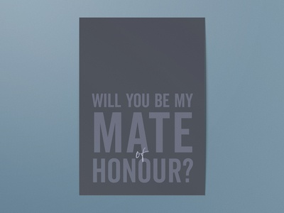 Simple typography wedding proposal card