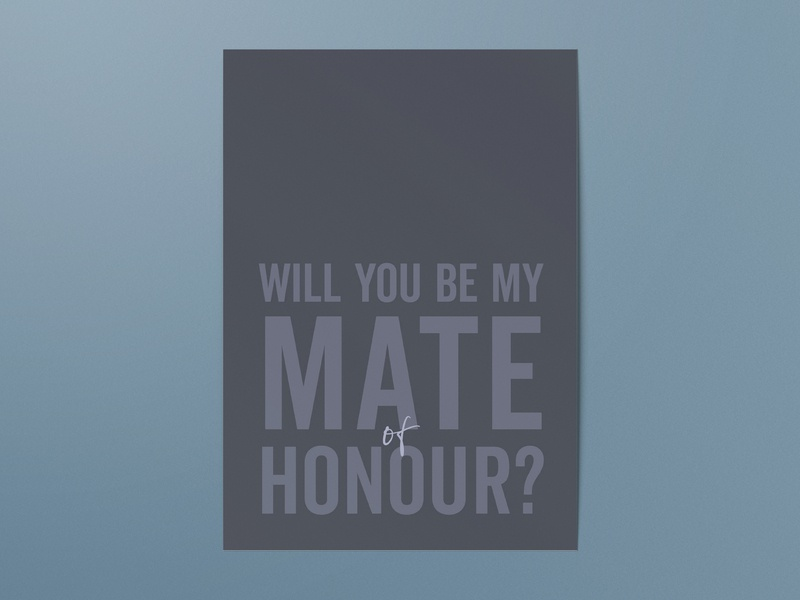 Simple typography wedding proposal card serif gray grey simple clean interface simple typography wedding card wedding proposal card mate of honour maid of honour gettin hitched rocks best man
