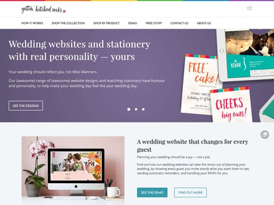 Gettin' Hitched Rocks website landing page