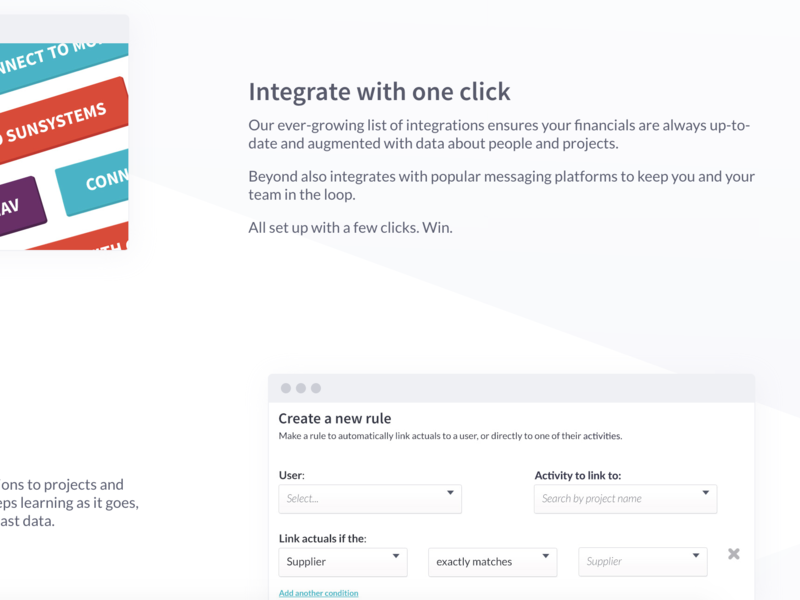 Features list by Mell Magment on Dribbble