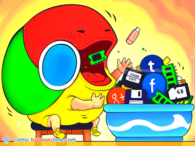 The hungriest web browser joke comic browserling hunger food memory ram browsers browser chrome