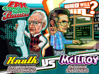 Epic Computer Science Battles: Don Knuth vs Doug McIlroy