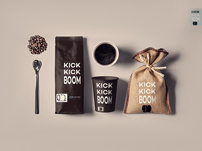 KICK KICK BOOM | Coffee packaging