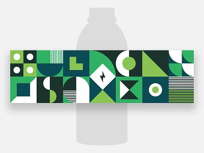 Bottled Water bottled water flat minimal geometric illustration vector pattern label abstract