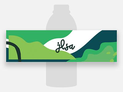 Bottled Water bottled water vector minimal lettering label illustration abstract