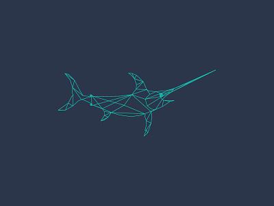 Swordfish lines illustration swordfish