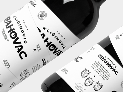 Orahovak Wine typography marca buenos aires design logotype los caballos identity illustration argentina branding identity design logo type packaging bottle wine