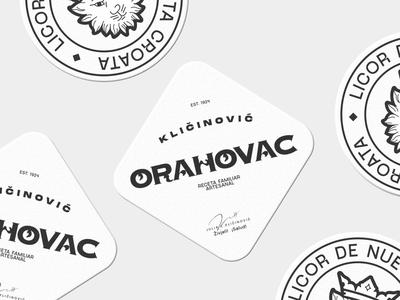 Orahovac Cupholders typography holder los caballos marca design illustration buenos aires argentina branding print type identity