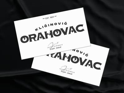 Orahovac Cards card marca black typography mark logotype los caballos design type branding buenos aires argentina identity