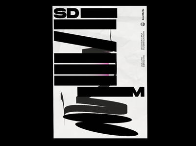sdm poster graphicdesign black poster typography marca logo logotype los caballos identity buenos aires argentina