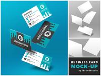 Free Floating Business Card Mockup (Scene 1)