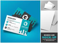 Free Floating Business Card Mockup (Scene 2)