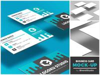 Free Floating Business Card Mockup (Scene 3)
