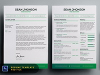 Free Malist Resume Template + Cover Letter (Green)