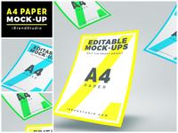 Floating A4 Paper Mockup (Scene 1)
