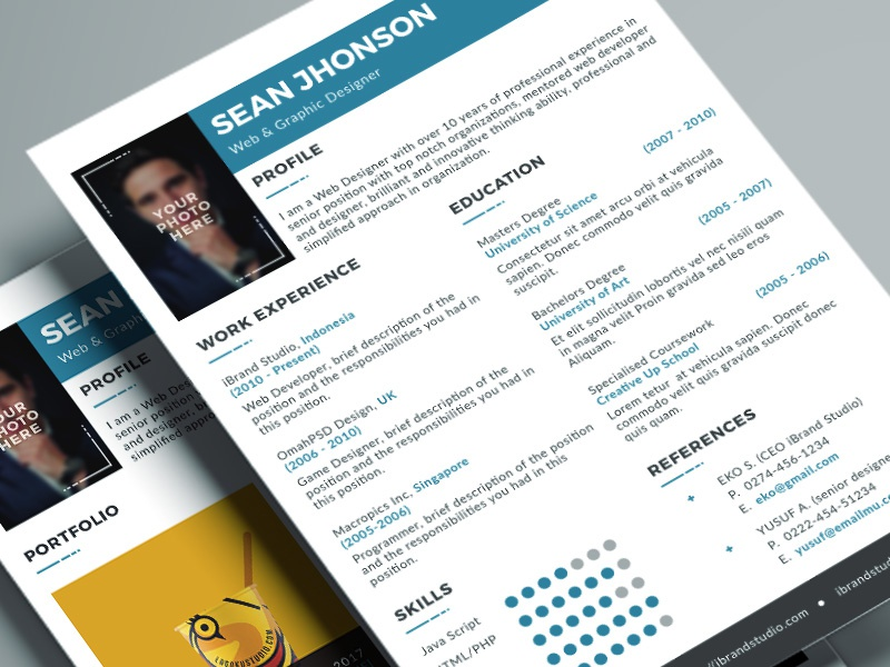Jobster Resume Template (Blue)