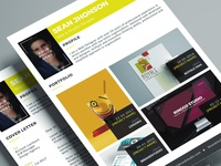 Jobster Resume Template (Yellow)