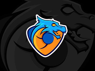 Blue Dragon Logo (Ai & Eps files) sport gaming esport free freebie mascot template logo dragon blue