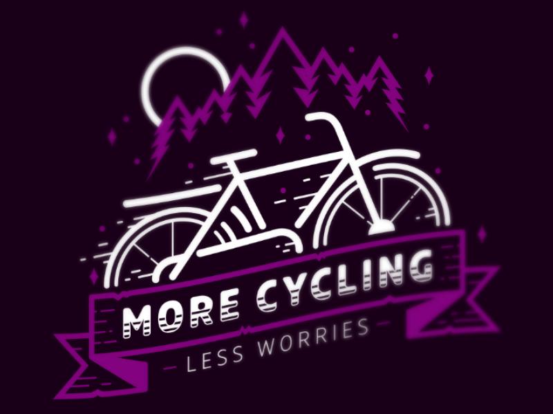 More Cycling dark purple purple night city bike bicycle bike