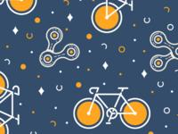 Bike & Chain pattern