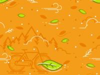 Bicycle, Leaf & Wind Pattern
