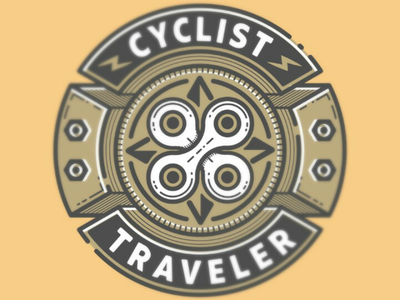 Cyclist Traveler illustration vector society6 traveler cyclist chain